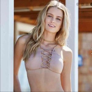 NWT Pacsun LA hearts reversible bikini top